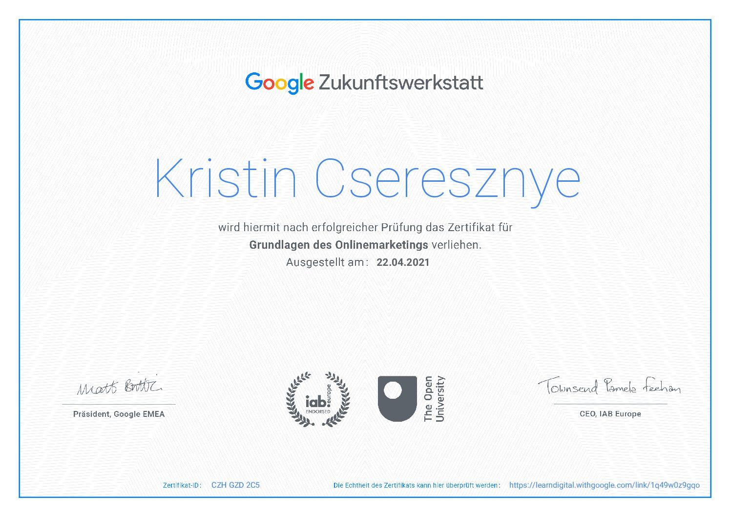 Kristin Cseresznye Blog, SocialMedia Managerin, Virtuelle Assistentin